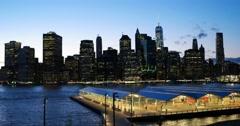 Pan Left of Manhattan New York City 4K Stock Video Stock Footage