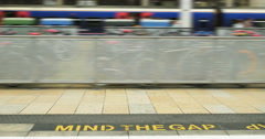 Mind the gap Stock Footage