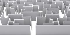 Composite image of maze - stock illustration