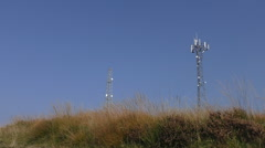 Telecommunications tower Stock Footage