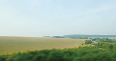 View from high-speed train Stock Footage