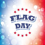 flag day banner on celebration background - stock illustration