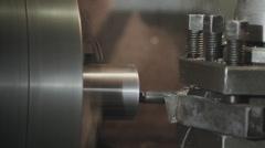 boring lathe metal blank - stock footage