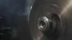 Boring lathe metal blank Stock Footage