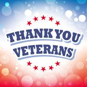 Stock Illustration of thank you veterans banner on celebration background