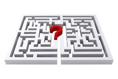 Maze question mark - stock illustration