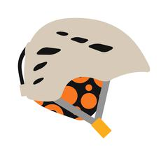 Snowboard sport clothes helmet element vector - stock illustration
