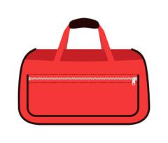 Journey suitcase travel red fashion bag trip baggage vacation vector Stock Illustration