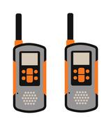 Portable radio transmitter on a white background vector illustration - stock illustration