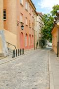 Warsaw. The narrow old street Stock Photos