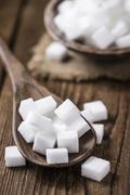 Portion of white Sugar Stock Photos