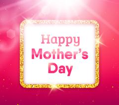 Stock Illustration of Happy Mothers Day typography greeting card