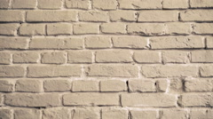 Background of beige brick wall 4k Stock Footage