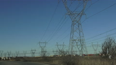 Electric  or Hydro Towers in Ontario, Canada Stock Footage
