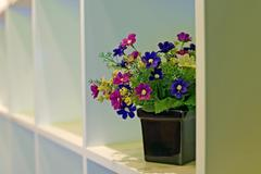 artificial flower in flowerpot - stock photo