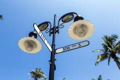 Stock Photo of historical street sign in Naples, Florida
