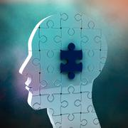 Composite image of brain with jigsaw piece Stock Illustration
