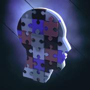 Composite image of head made of jigsaw pieces Stock Illustration