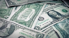 Pile Of Dollars Rotating Stock Footage