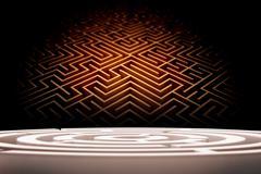 Composite image of circle maze - stock illustration