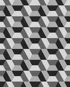 hexagon seamless pattern - stock illustration