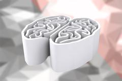Composite image of brain maze - stock illustration