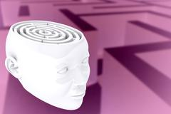 Composite image of maze as brain Stock Illustration