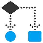Algorithm Scheme Vector Toolbar Icon Stock Illustration