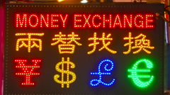 Currency exchange - stock footage