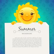 Colorful Summer Background with Copy Space Stock Illustration