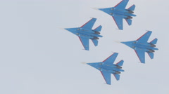 Russian Air Force flight groups airshow Stock Footage