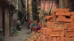 Nepal 1 Year After the Earthquake. Getting Ready to Rebuild 4K Stock Footage