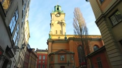 Slottskyrkan church, Stockholm Royal Chapel, Sweden - stock footage