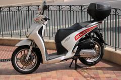 Honda SH 125i Motorbike of the Monaco Police Stock Photos