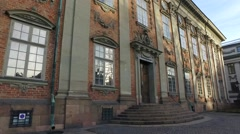 Old House in Stockholm Street Stock Footage