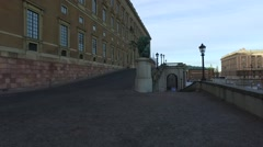 The Royal Palace, Stockholm, Sweden Stock Footage