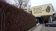 Zoo administration building, Gorilla, Zoologischer Garten, Berlin, Germany Stock Footage