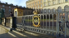 Man Serves As A Guard At The Royal Palace In Stockholm, Sweden. Stock Footage