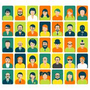 Avatars and user pics for website or social service Stock Illustration