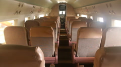 Douglas DC3 Interior Passenger Cabin Stock Footage