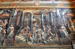 Paintings in the Vatican - stock photo