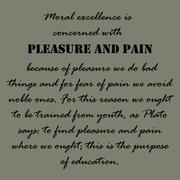 Moral excellence is concerned with pleasure and pain. Aristotle Quotes Stock Illustration