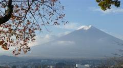 Kawaguchiko beautiful fall scenery and background, Japan - stock footage