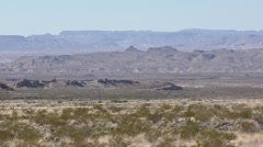 Driving Shot of American Southwest Desert Scenery at Big Bend National Park Stock Footage