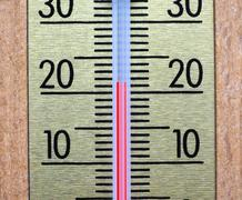 Thermometer for air temperature measurement - stock photo
