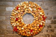 Wine corks collection Stock Photos