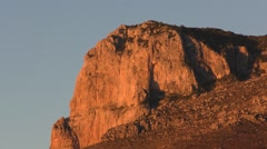 Sunrise on Rocky Outcropping Cliff at Guadalupe National Park - stock footage