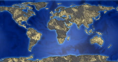 Driving seamless map of the earth with a fantastic land Arkistovideo