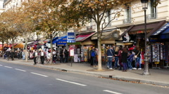 Time Lapse of People & Traffic on Scenic Street  - Paris France Stock Footage