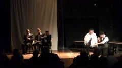 Actors telling the historical story of cantor Yossele Rosenblatt Stock Footage